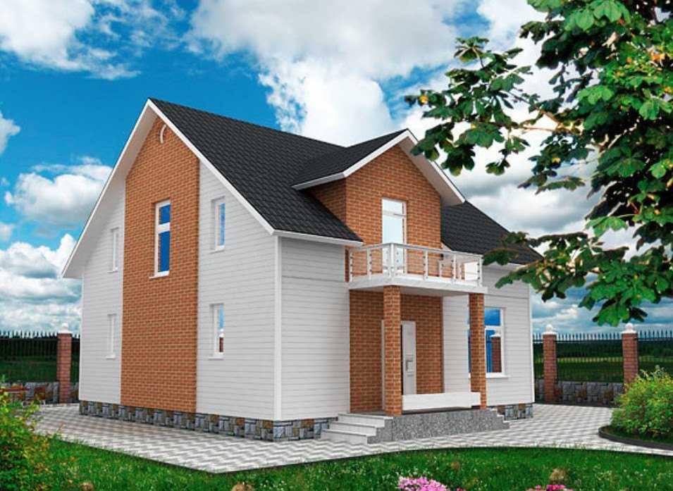 Двухэтажный дом 9 на 9