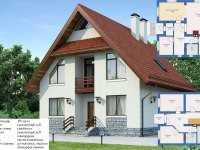 Фото одноэтажного дома 10 на 12 общей площадью 150 кв.м.