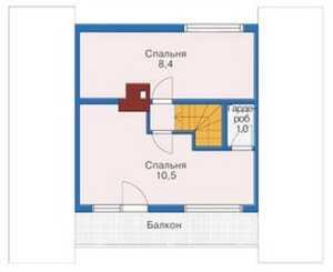 План мансардного этажа бани с бассейном