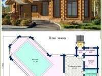 Фото бани с бассейном общей площадью 114 кв.м.