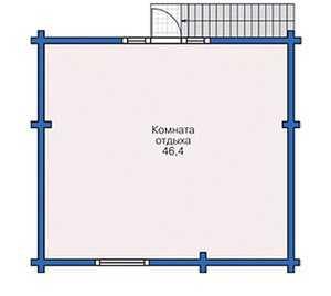План второго этажа бани с террасой