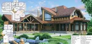 Деревянный дом в стиле Прованс