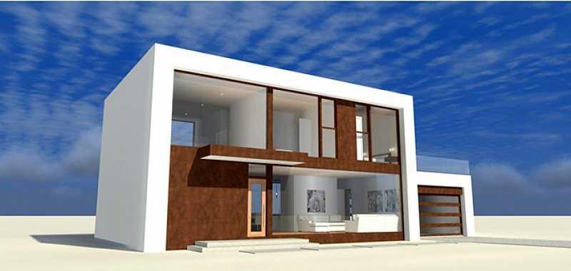 Дом в стиле хай тек, общий вид