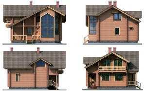 Фото фасадов двухэтажного дома 10 на 10