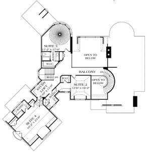 план мансардного этажа дома в стиле Прованс