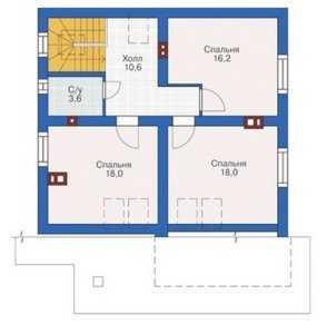 План мансардного этажа дома 10 на 12