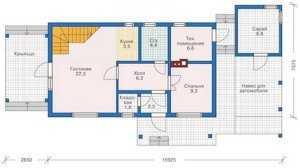 План первого этажа дома в скандинавском стиле