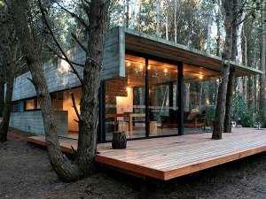 Фото деревянного коттеджа