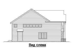 Фасад слева дома в стиле фахверк