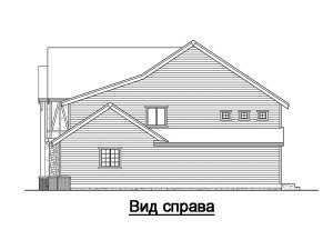 Фасад справа дома в стиле фахверк