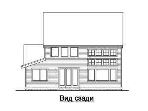 Фасад сзади дома в стиле фахверк