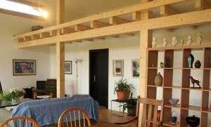 Интерьер деревянного коттеджа - столовая