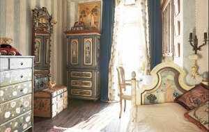 Интерьер в стиле русской усадьбы 17-18 веков