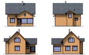Фасады небольшого дома из дерева