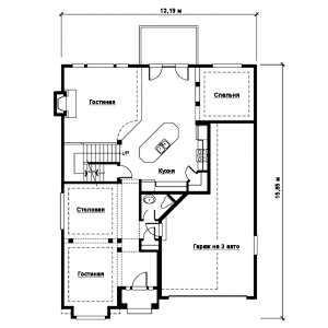 План первого этажа дома в стиле фахверк