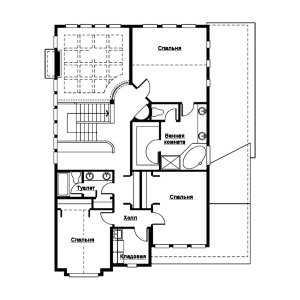 План второго этажа дома в стиле фахверк