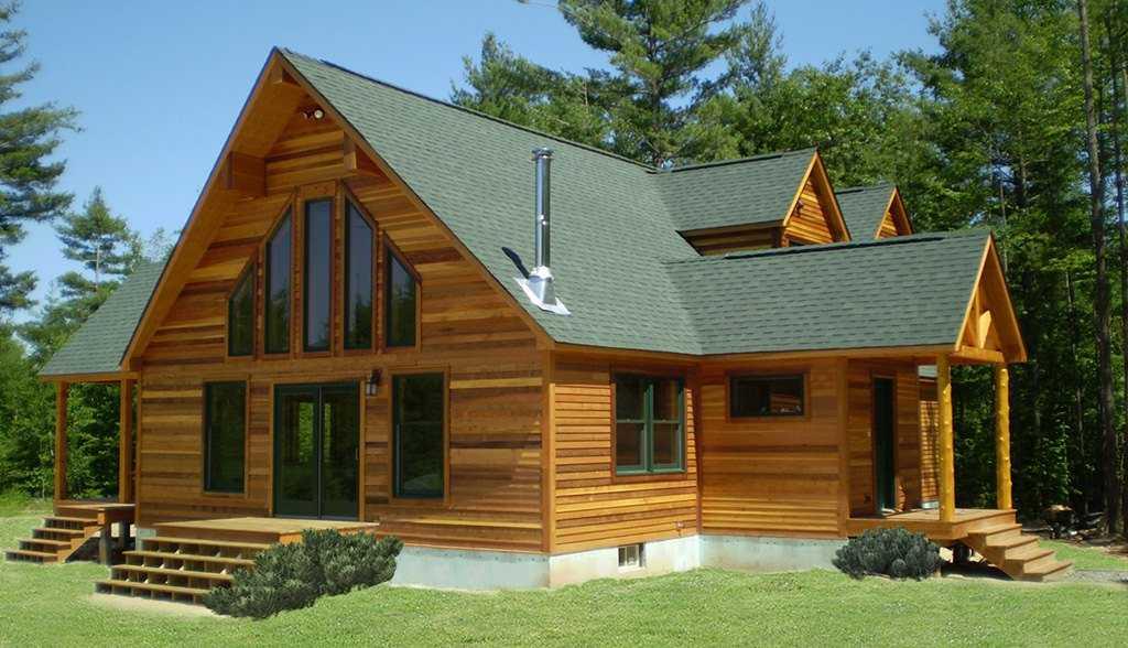 Дом в стиле кантри из клееного бруса