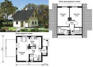 Проект №1.Небольшой дом из пеноблоков.