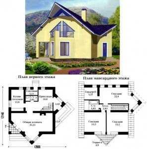 Проект №2.Небольшой дом из пеноблоков.