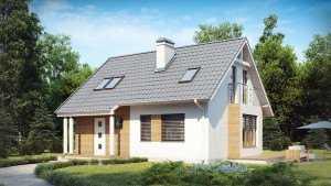Небольшой дом из пеноблоков фото