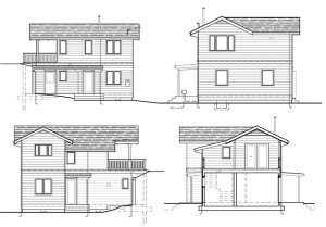 Фасад Небольшой каркасный дома
