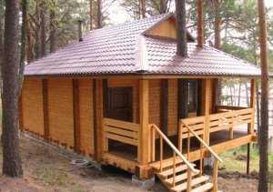 2. Деревянная баня
