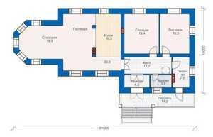План небольшого кирпичного дома