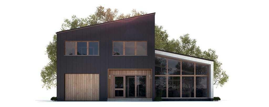Дом с большими окнами - вид сзади