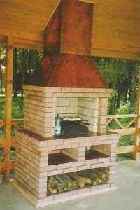 Печь для бани с барбекю