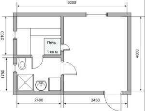 3. План бани 6x4