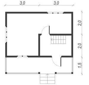 План бани 6x4