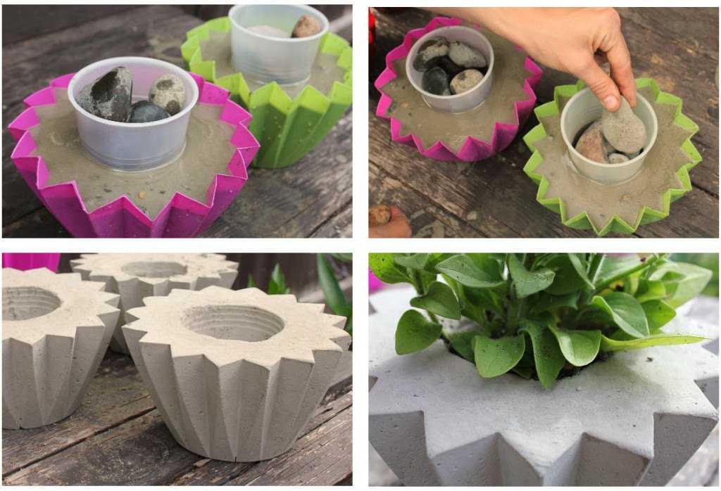 Миниатюрные-вазоны-из-бетона-своими-руками