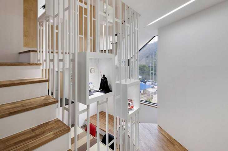 Авангардное решение дизайна лестницы