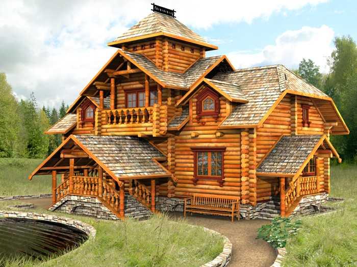 экстерьер дома в русском стиле