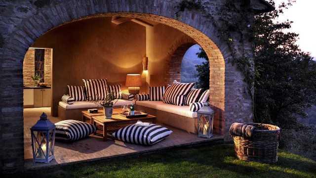 Испанская терраса в камне