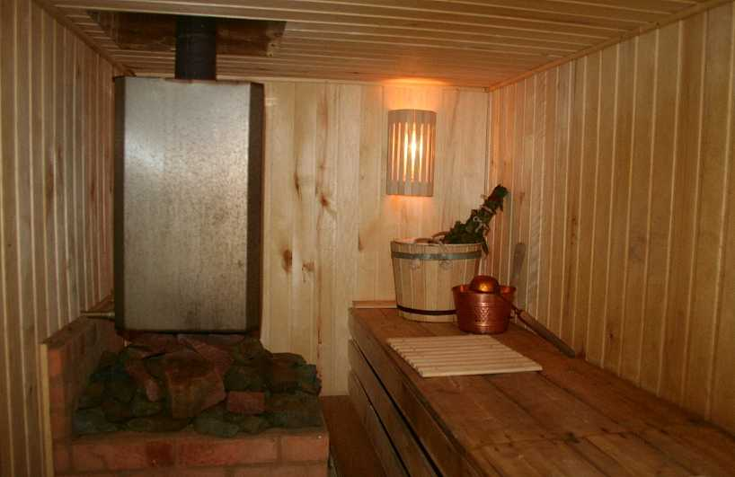 простая баня в подвале