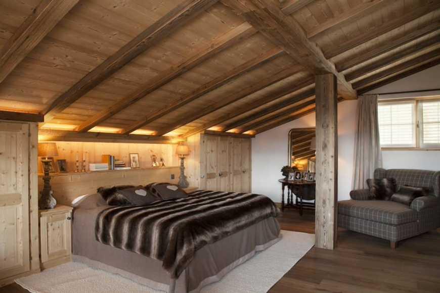 спальня небольшого дома