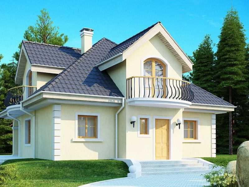 Металлочерепица с пластизолом, классический дом