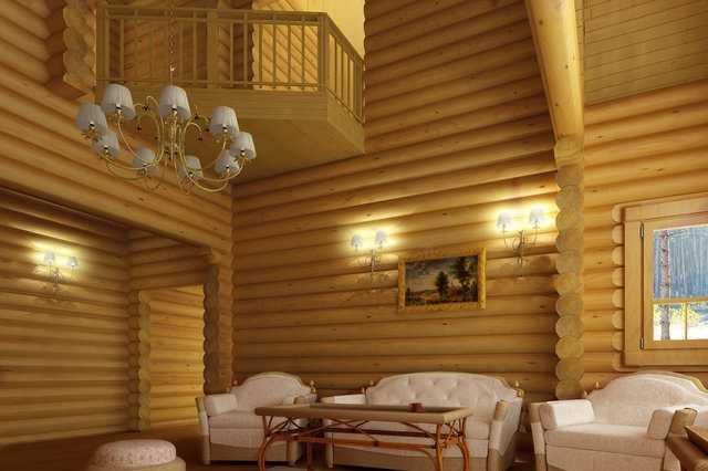 интерьер деревянного коттеджа