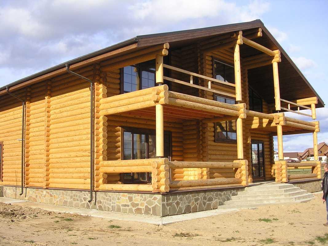 строительство дома из бревен