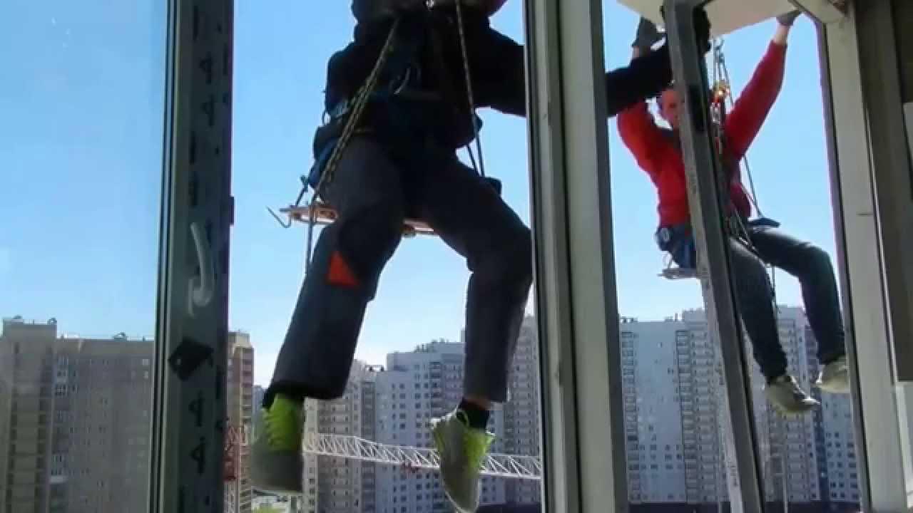 замена стеклопакета альпинисты