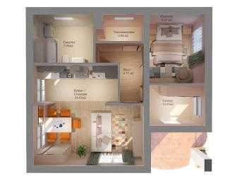 Планировка дома МС-72