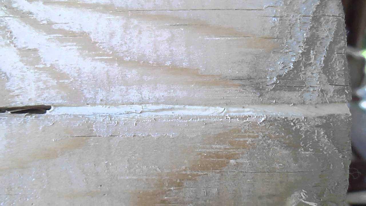 щели в деревянном доме