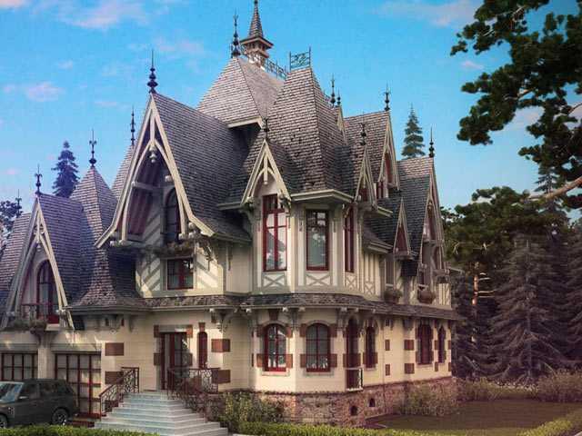 Дом в готическом стиле проект