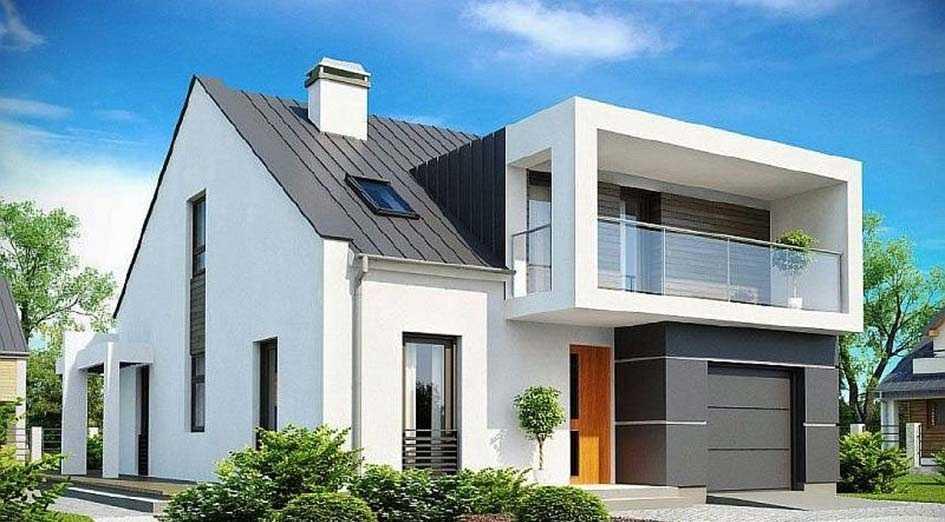 дом стиле современный модерн