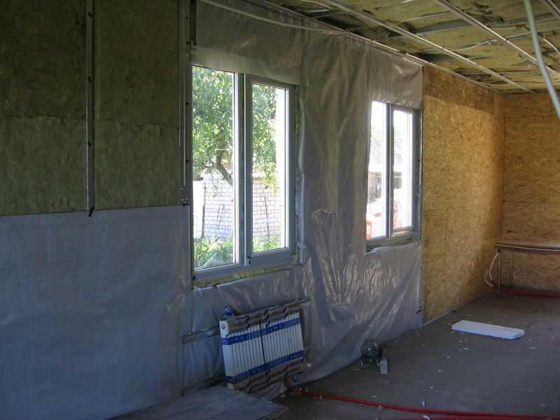 утепление бетона изнутри