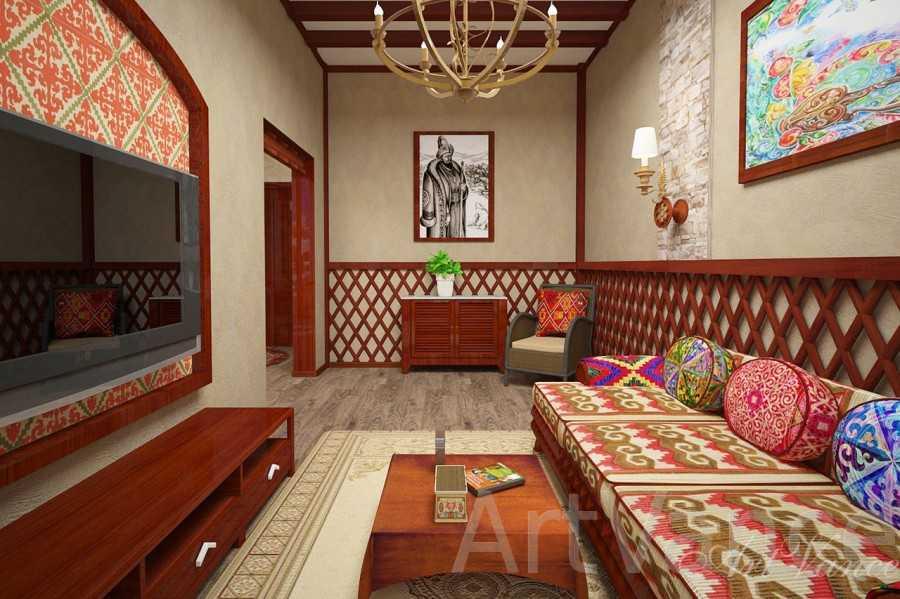 дома в казахском стиле