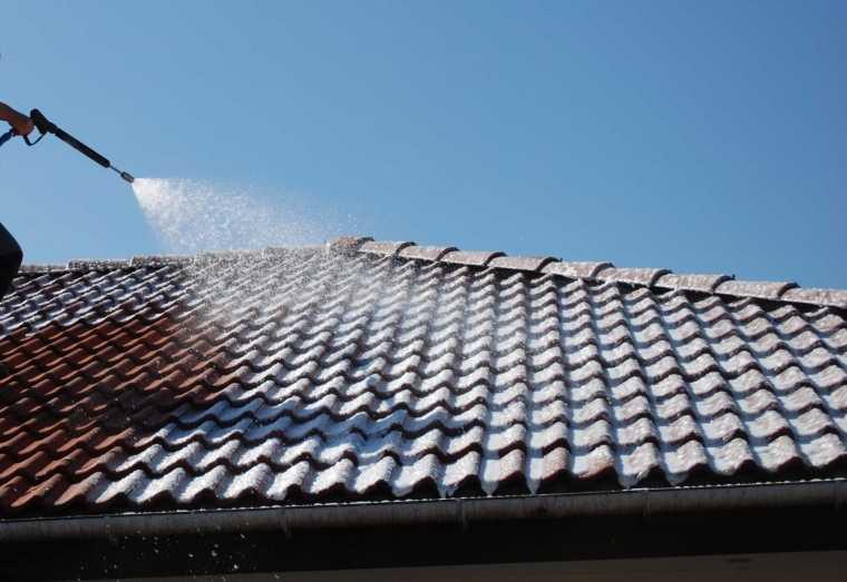 ремонт конька шиферной крыши