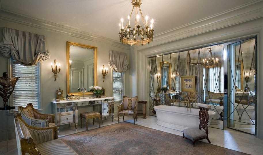 зеркальные панели для отделки стен