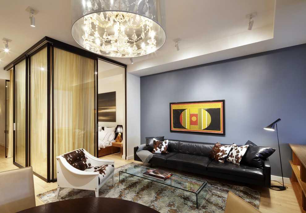 Зонирование гостиной и спальни (2)